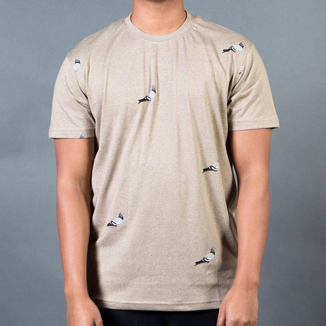 Tシャツ 灰色 グレー グレイ ヘザー 【 GRAY HEATHER STAPLE MEN ALL OVER PIGEON TEE 】 メンズファッション トップス Tシャツ カットソー