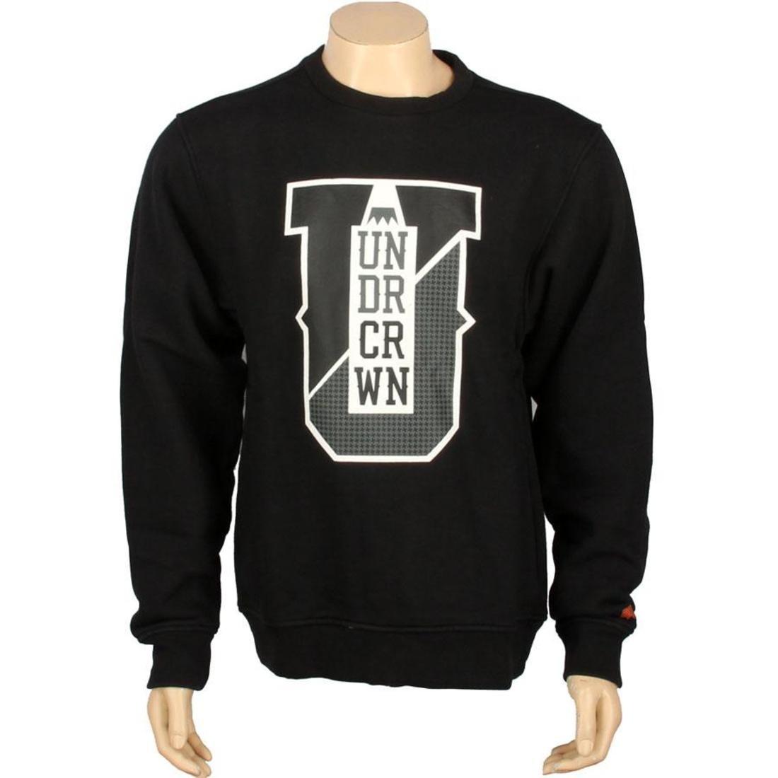 メンズファッション トップス Tシャツ カットソー メンズ 【 Under Crown Varsity Crewneck Sweatshirt (black) 】 Black