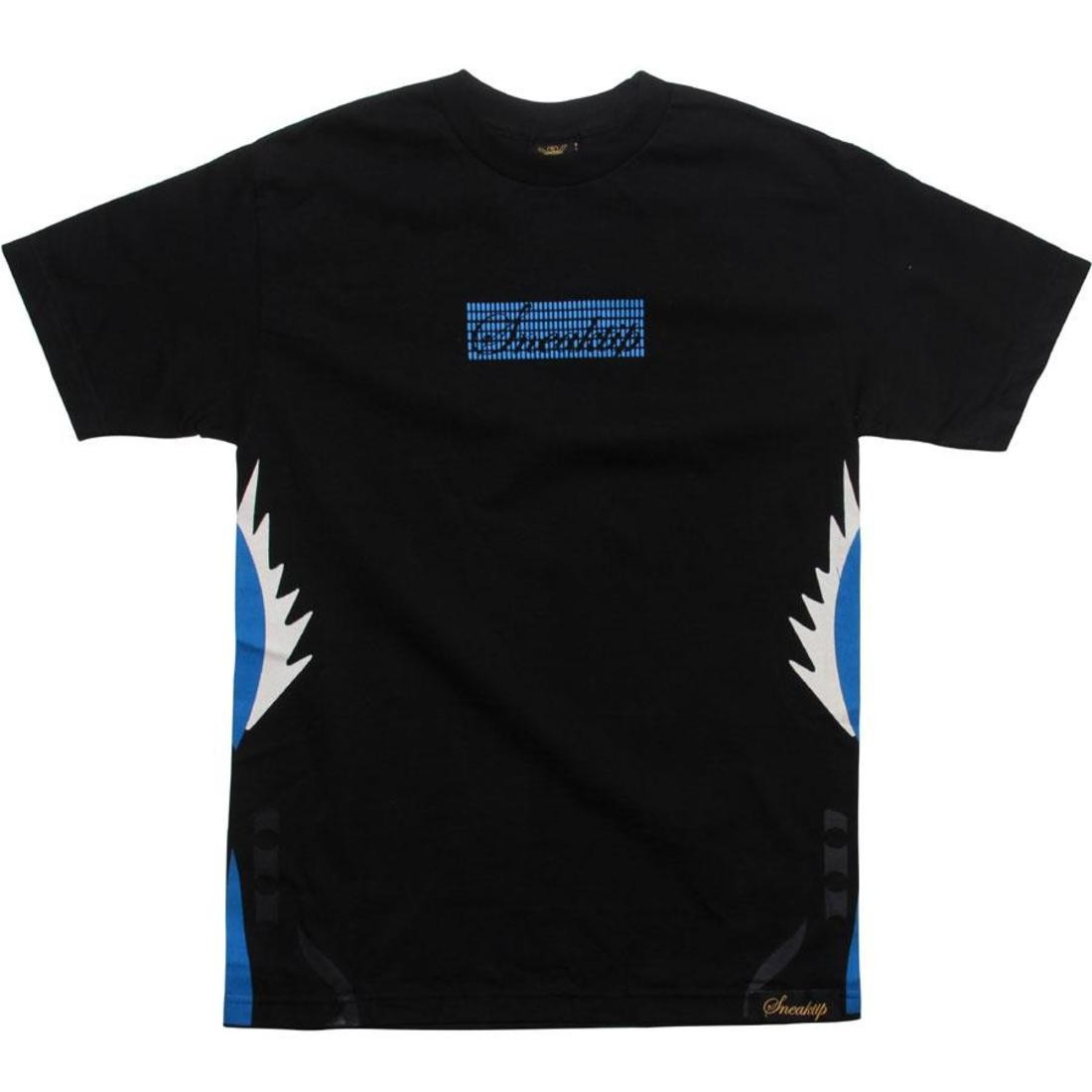 【海外限定】スニークティップ Tシャツ カットソー 【 SNEAKTIP 5 FIRE TEE BLACK BLUE 】【送料無料】