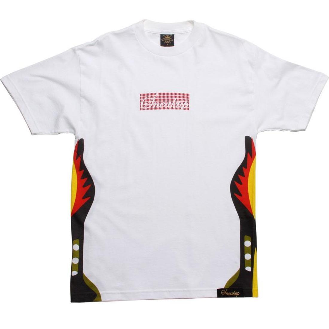 【海外限定】スニークティップ Tシャツ トップス メンズファッション 【 SNEAKTIP 5 FIRE TEE WHITE RED 】