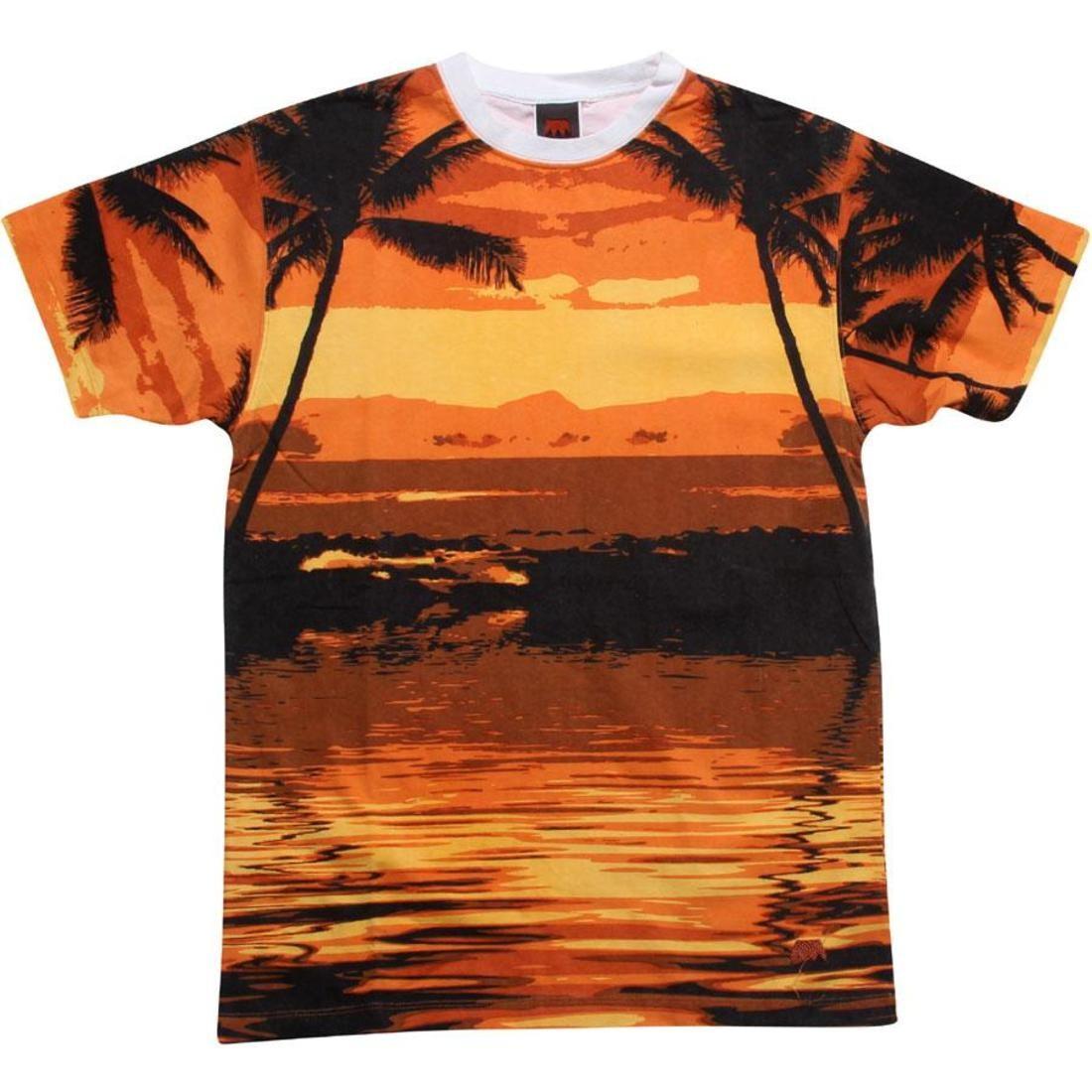 【海外限定】Tシャツ カットソー【 UNDER UNDER CROWN【】 SUNSET STRIP TEE BLACK ORANGE】, LoopLand:5830bbaf --- officewill.xsrv.jp