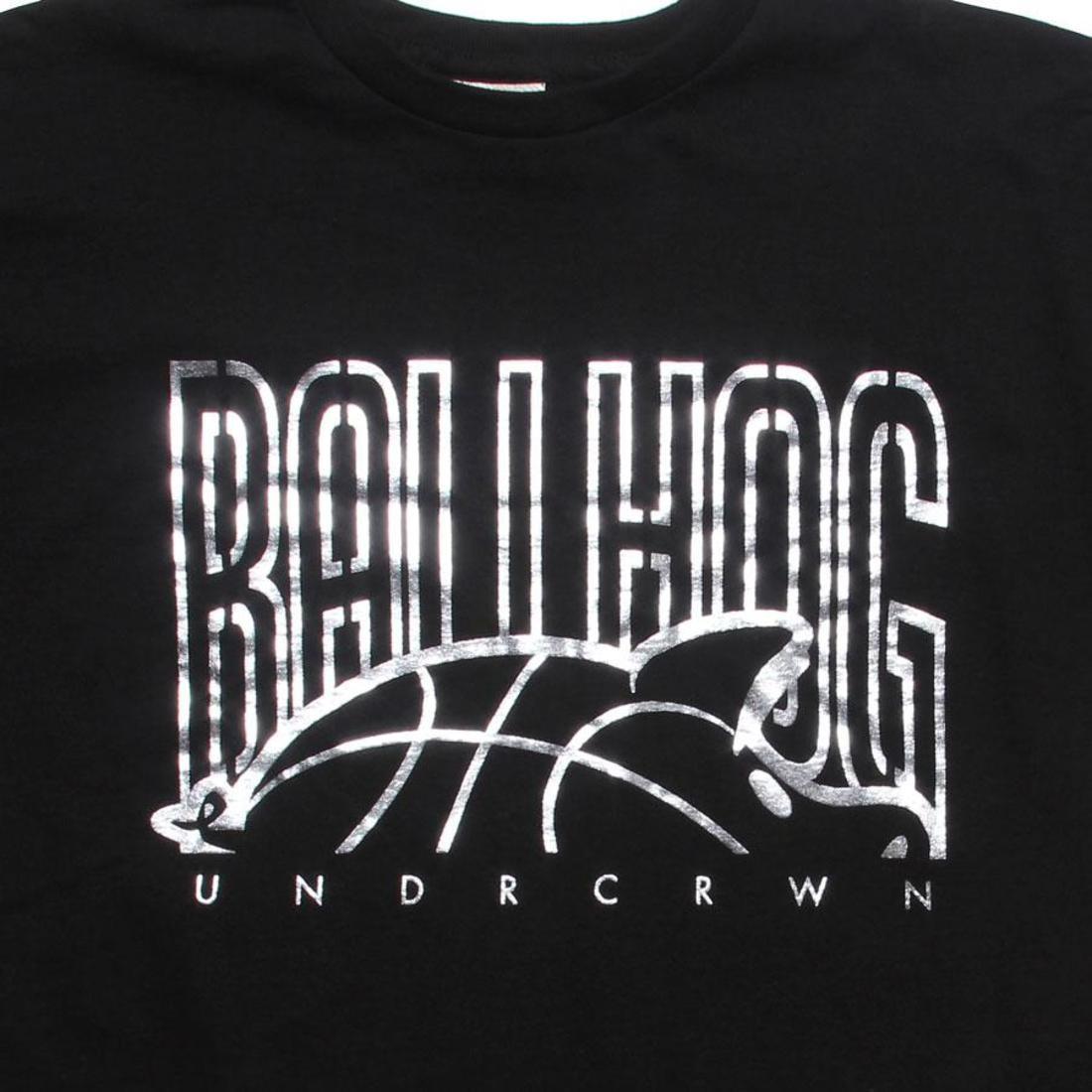 【海外限定】ロゴ Tシャツ 銀色 シルバー カットソー トップス 【 SILVER UNDER CROWN BALL HOG LOGO TEE BLACK FOIL 】
