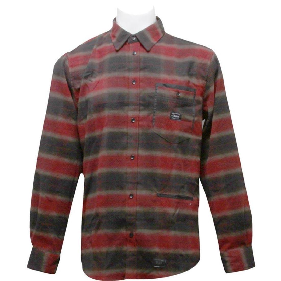 【海外限定】スリーブ ウーブン カジュアルシャツ メンズファッション 【 SLEEVE WOVEN ORISUE AMBERTON LONG SHIRT RED 】