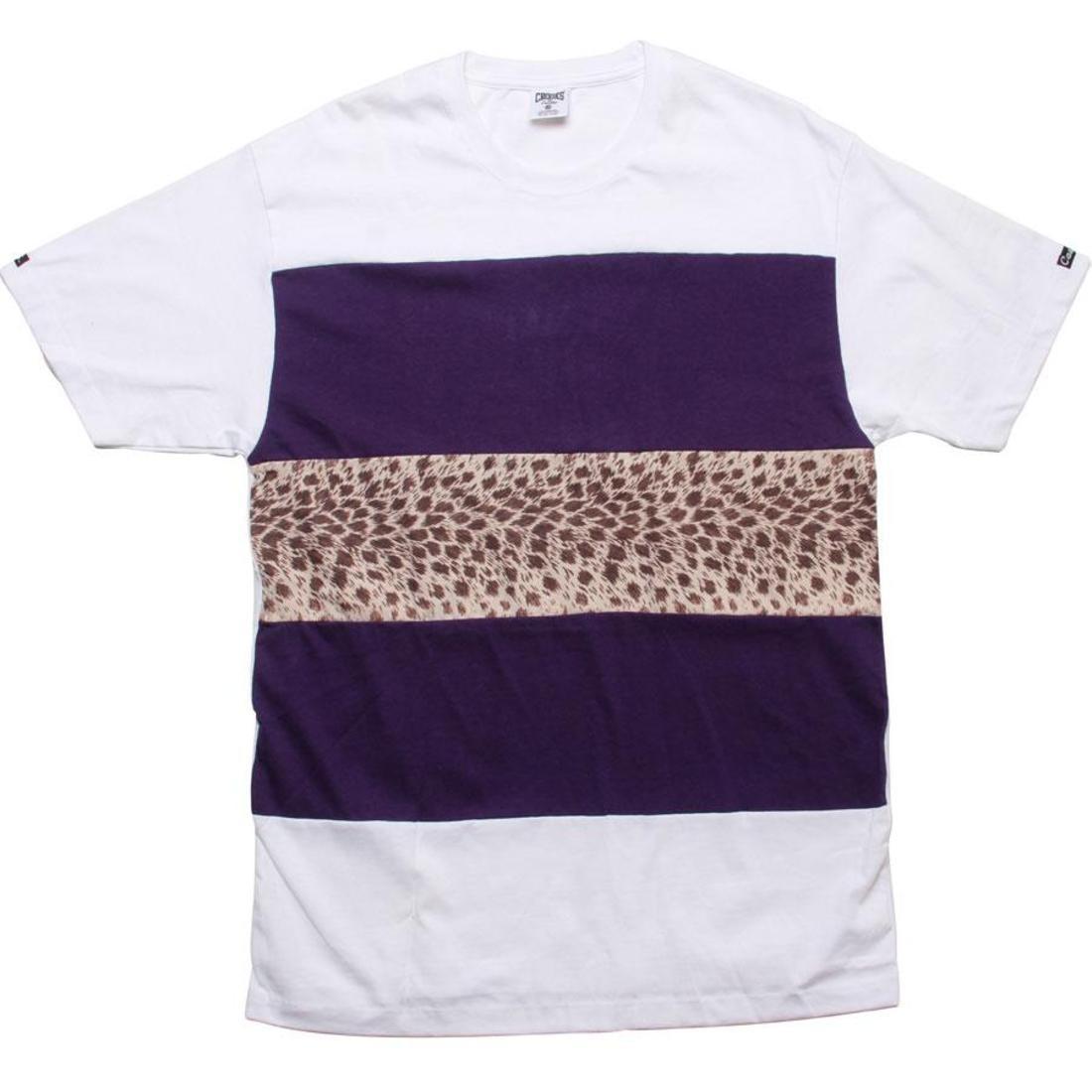 【海外限定】ワイルド ストライプ Tシャツ メンズファッション 【 WILD STRIPE CROOKS AND CASTLES LIFE TEE WHITE 】