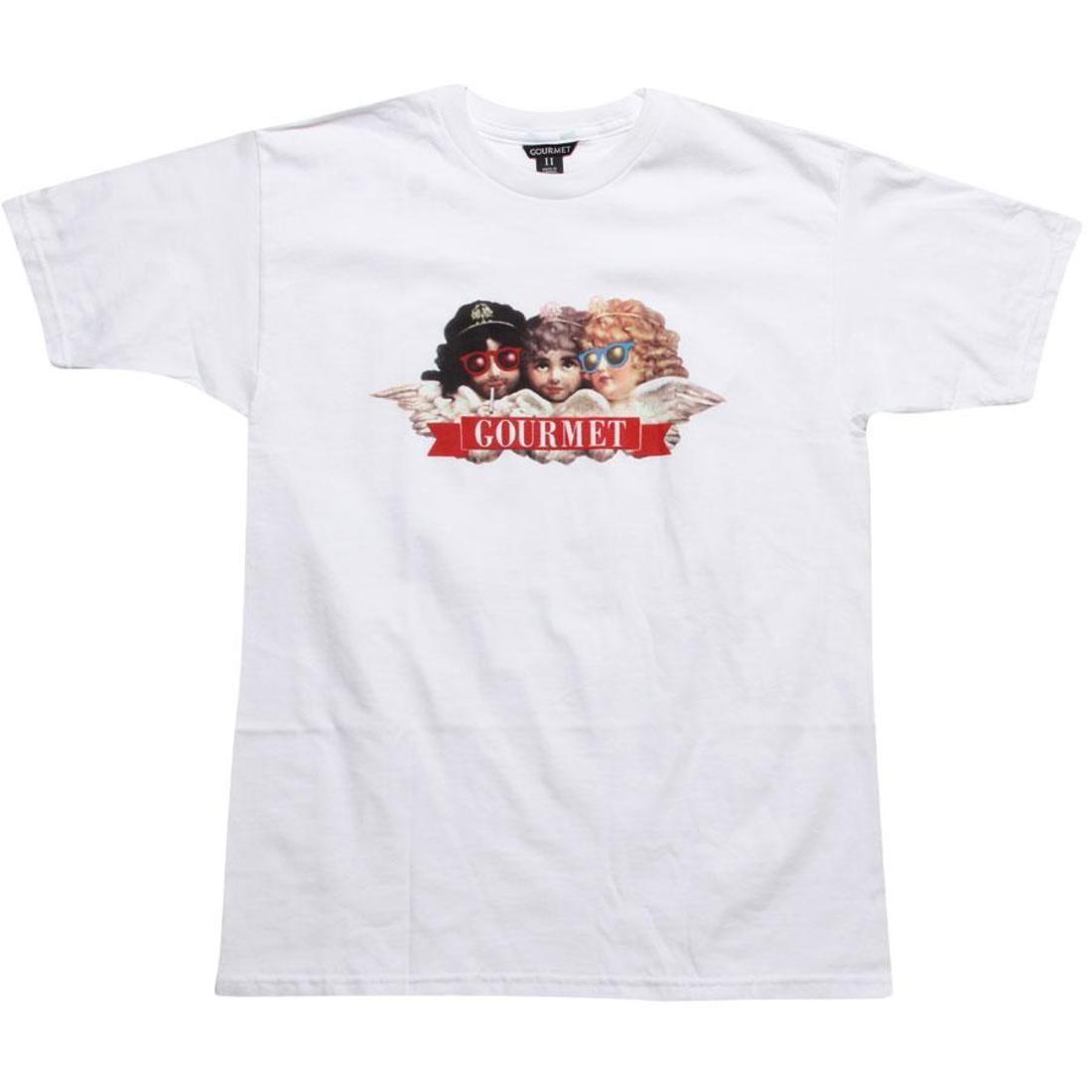 グルメ Tシャツ 白 ホワイト 【 WHITE GOURMET PAISANS TEE 】 メンズファッション トップス Tシャツ カットソー
