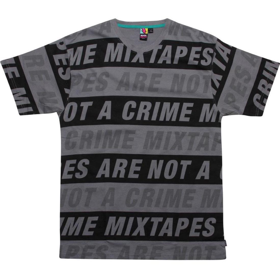 【海外限定】Tシャツ カットソー メンズファッション 【 ROCK SMITH MIXTAPE TEE CHARCOAL 】
