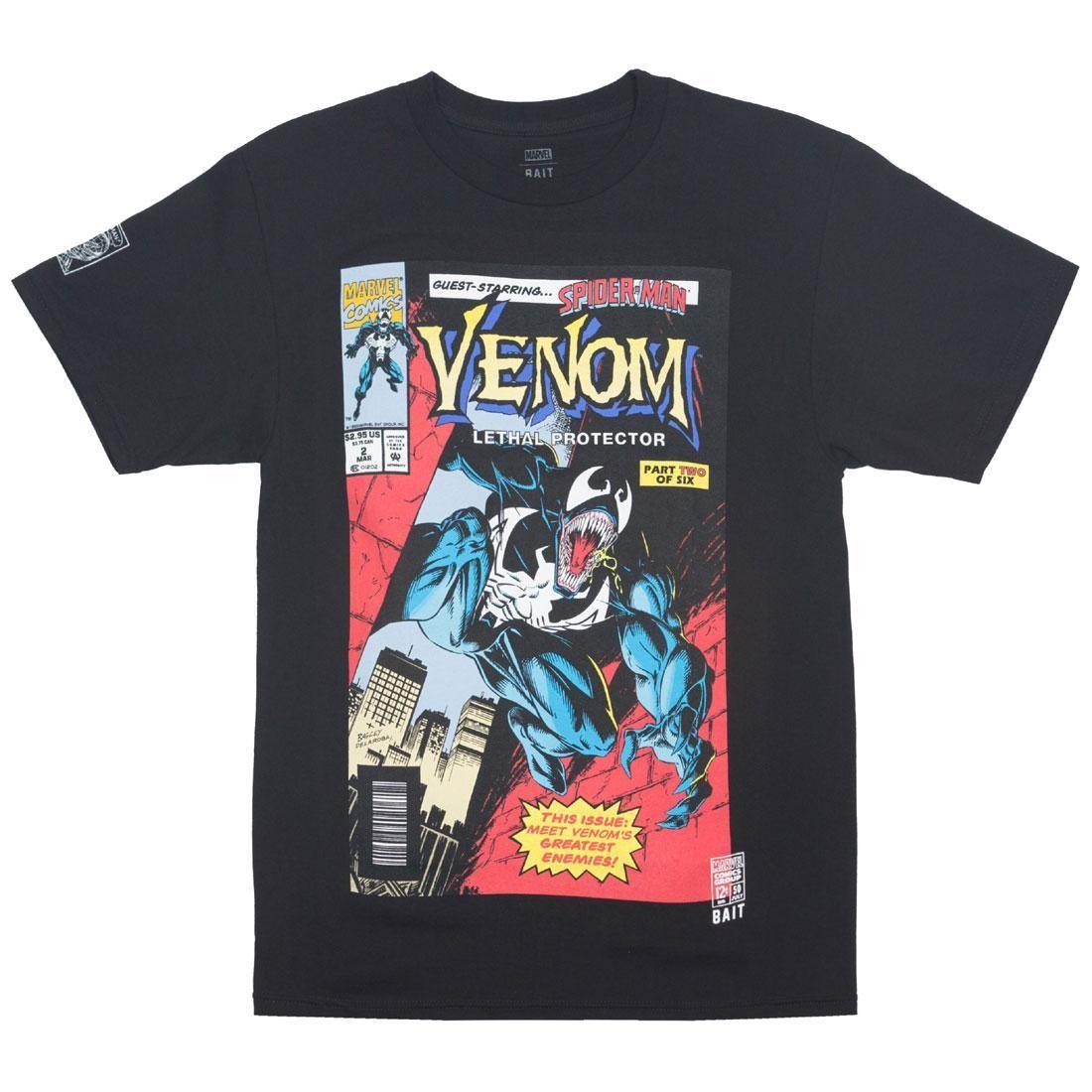 ベイト BAIT Tシャツ 黒 ブラック #2 【 BLACK BAIT X MARVEL MEN VENOM LETHAL PROTECTOR TEE 】 メンズファッション トップス Tシャツ カットソー