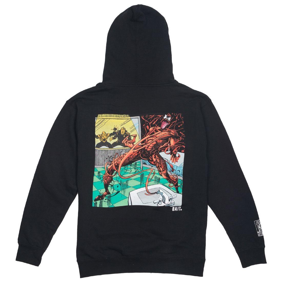 【海外限定】ロゴ フーディー パーカー メンズファッション 【 BAIT X MARVEL MEN CARNAGE LOGO HOODY BLACK 】