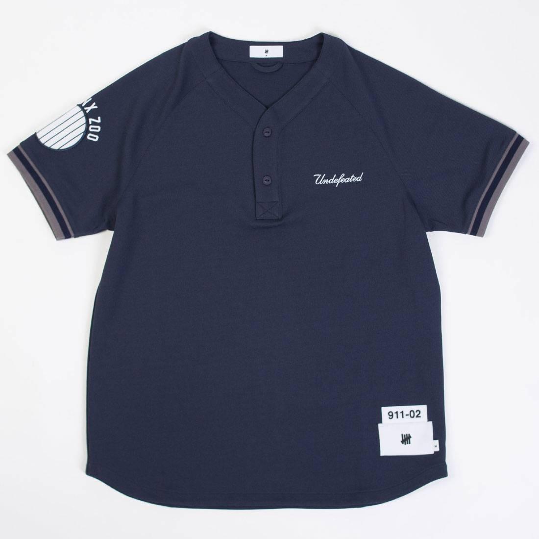 【スーパーセール中! 6/11深夜2時迄】UNDEFEATED ジャージ メンズファッション トップス Tシャツ カットソー メンズ 【 Men Bronx Zoo Jersey (navy / Dark) 】 Navy / Dark
