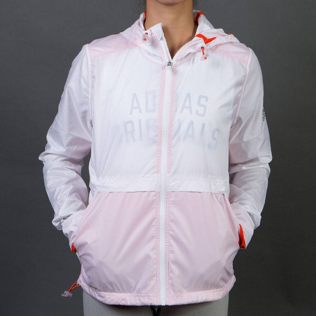 【海外限定】アディダス 【 ADIDAS WOMEN CLEAR GOALS JACKET WHITE 】