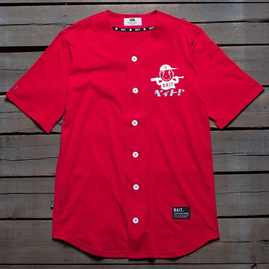 【海外限定】ロゴ ベースボール】 ジャージ トップス Tシャツ Tシャツ RED【 BAIT MEN NIPPON LOGO BASEBALL JERSEY SHIRT RED】, KOMEHYO USED WEAR:b7e30607 --- officewill.xsrv.jp