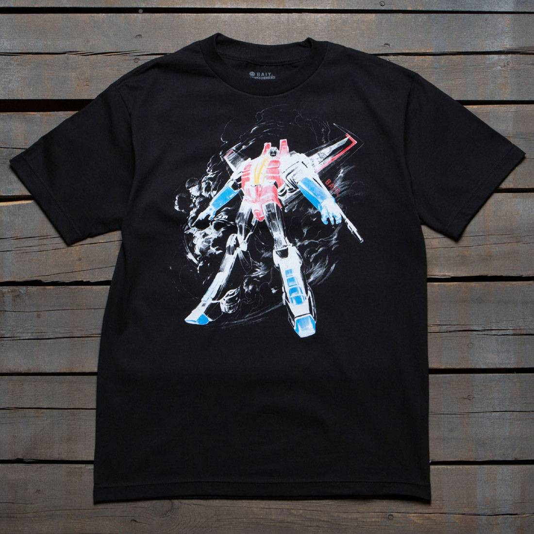 【海外限定】Tシャツ メンズファッション カットソー 【 BAIT X TRANSFORMERS MEN STARSCREAM TEE BLACK 】
