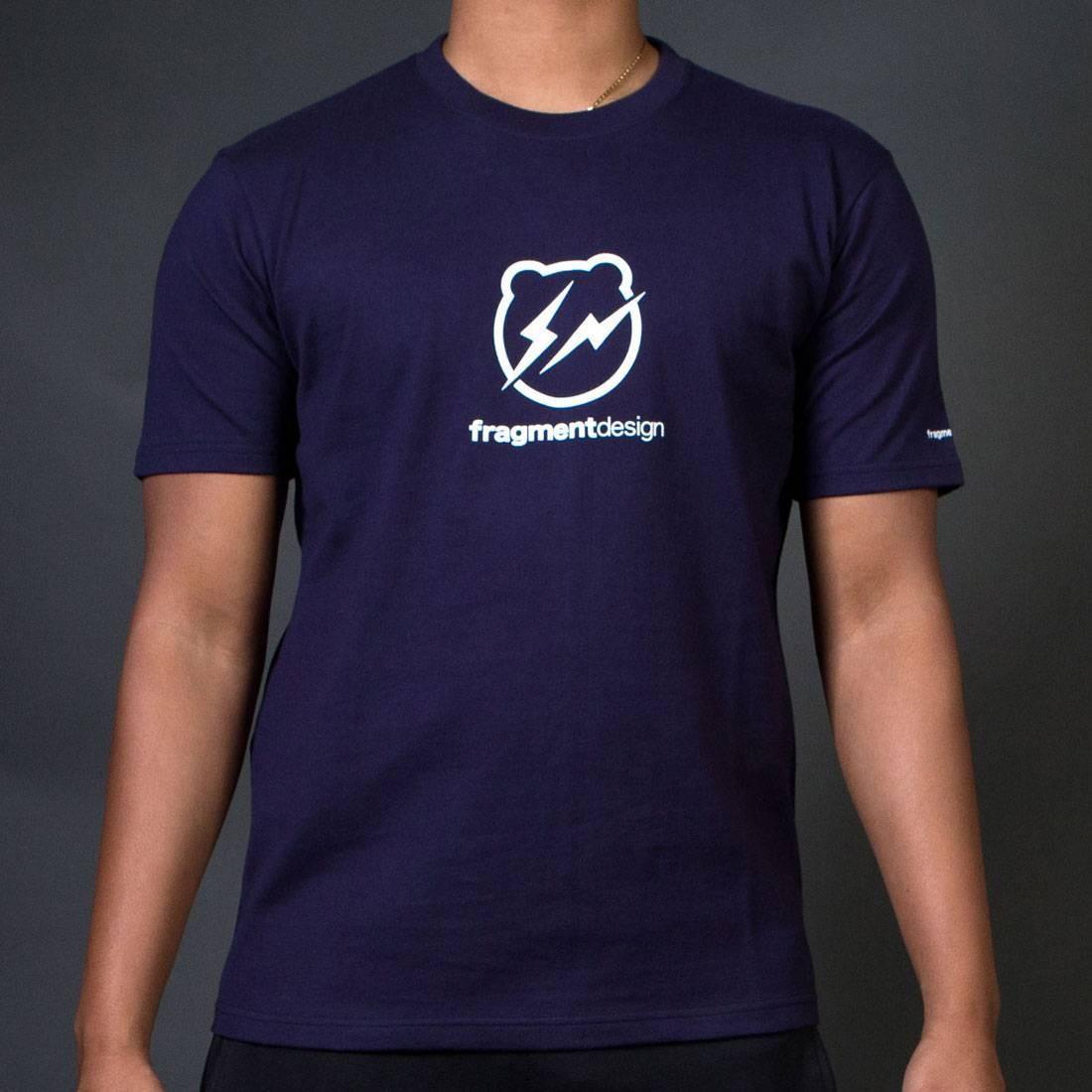 【スーパーセール中! 6/11深夜2時迄】ロゴ Tシャツ Be@rtee メンズファッション トップス カットソー メンズ 【 Medicom X Fragment Design Men Be@rtee Logo Tee (navy) 】 Navy