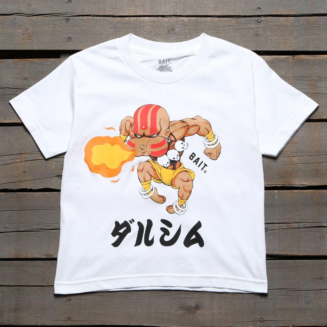 ベイト BAIT ストリート ファイター 子供用 Tシャツ 白 ホワイト 【 STREET WHITE BAIT X FIGHTER CHIBI DHALSIM YOUTH TEE 】 メンズファッション トップス Tシャツ カットソー