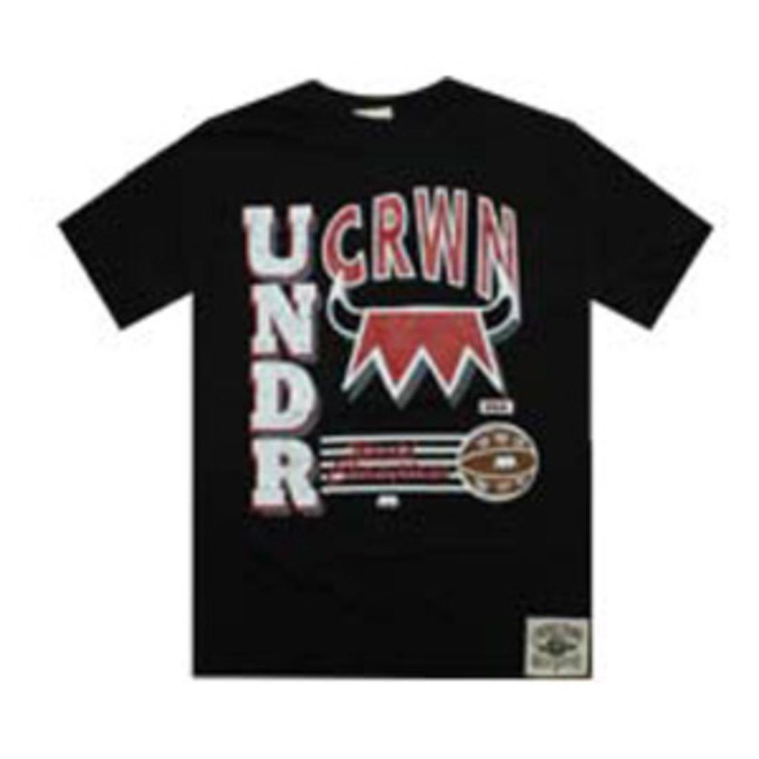 Tシャツ 黒 ブラック 【 BLACK UNDER CROWN WORLD CHAMP TEE 】 メンズファッション トップス Tシャツ カットソー