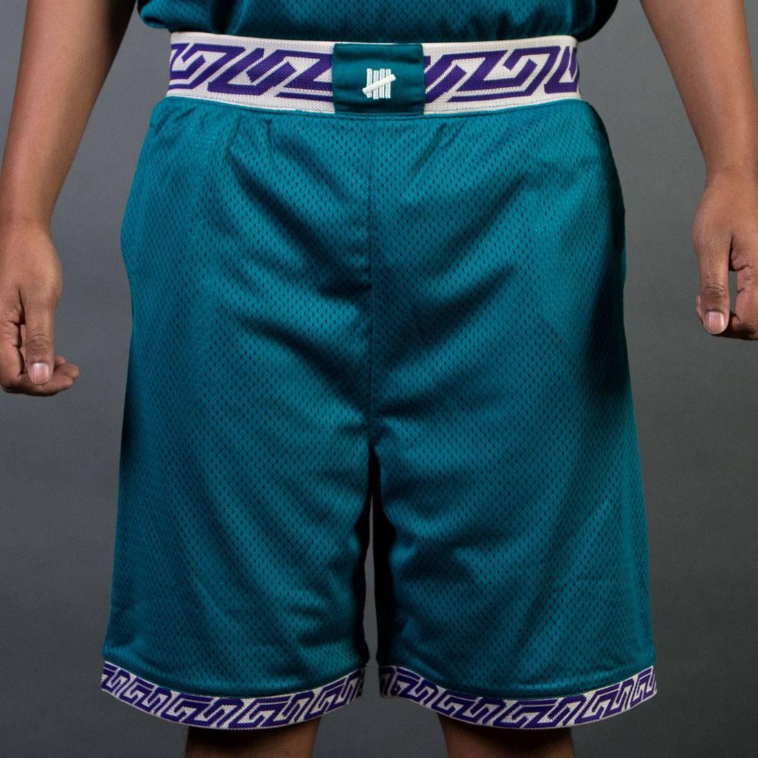 UNDEFEATED オーセンティック バスケットボール ショーツ ハーフパンツ 緑 グリーン 【 GREEN UNDEFEATED MEN AUTHENTIC BASKETBALL SHORTS TEAL 】 メンズファッション ズボン パンツ