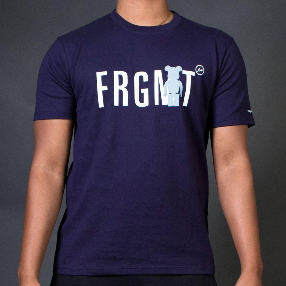 【スーパーセール中! 6/11深夜2時迄】Tシャツ Be@rtee メンズファッション トップス カットソー メンズ 【 Medicom X Fragment Design Men Be@rtee Frgmt Tee (navy) 】 Navy