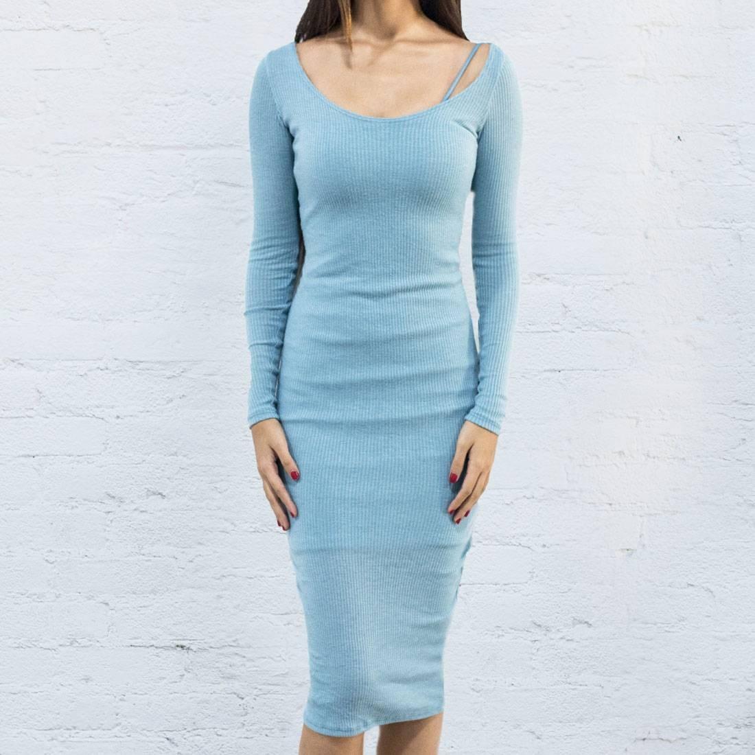 ベイト BAIT ドレス レディースファッション ワンピース レディース 【 Women Body Con Dress With Inner Slip - Made In La (blue / Baby Blue) 】 Blue / Baby Blue