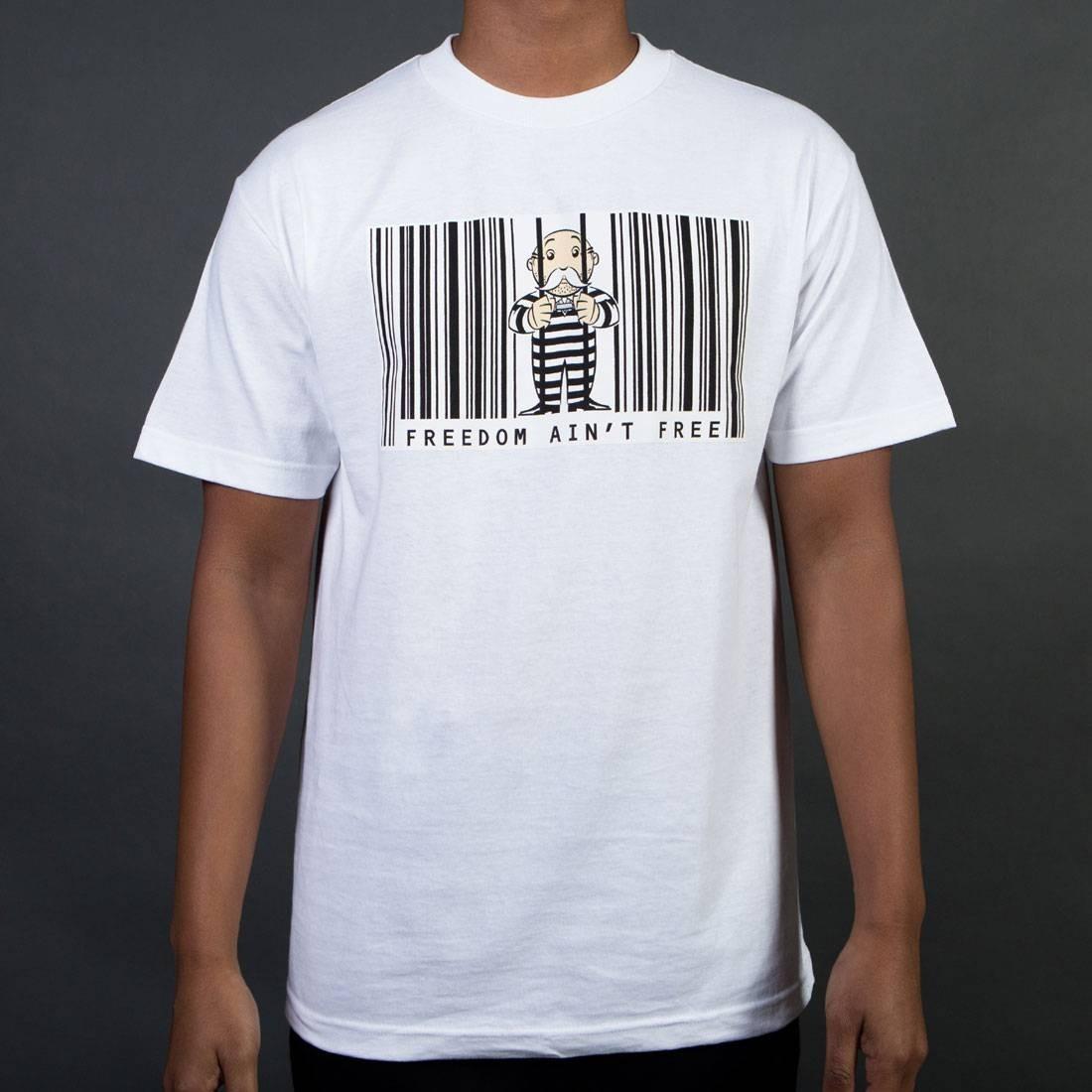 ベイト BAIT フリー Tシャツ 白 ホワイト AIN'T 【 FREE WHITE BAIT X HASBRO MONOPOLY MEN FREEDOM TEE 】 メンズファッション トップス Tシャツ カットソー