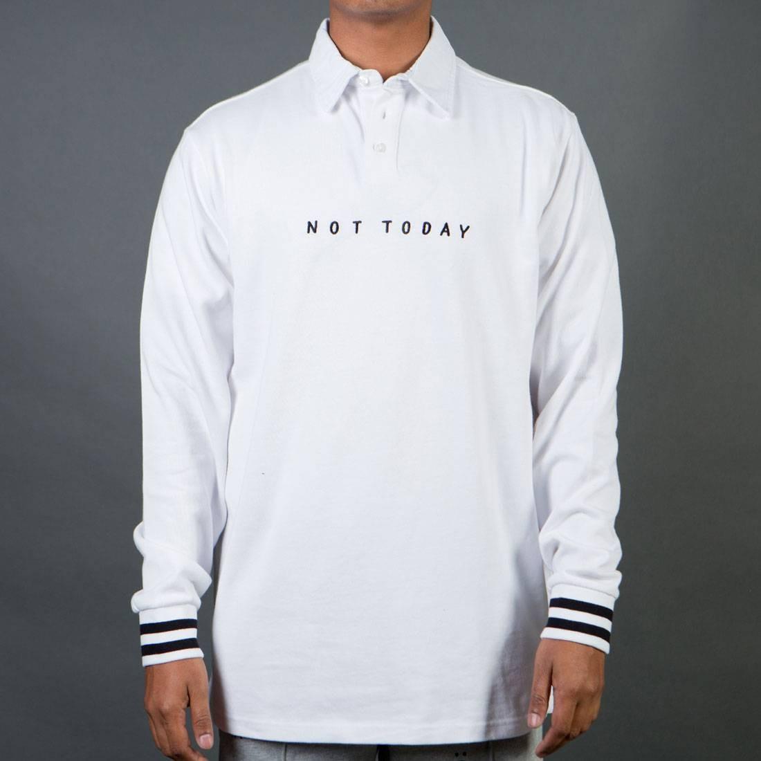 スリーブ ジャージ Tシャツ 白 ホワイト 【 SLEEVE WHITE LAZY OAF MEN NOT TODAY LONG JERSEY TEE 】 メンズファッション トップス Tシャツ カットソー
