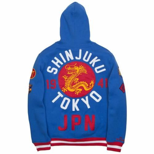 <title>ファッションブランド カジュアル ファッション ジャケット パーカー ベスト ドラゴン フーディー 青色 ブルー IRO OCHI MEN 全国一律送料無料 DRAGON HOODY BLUE メンズファッション トップス</title>