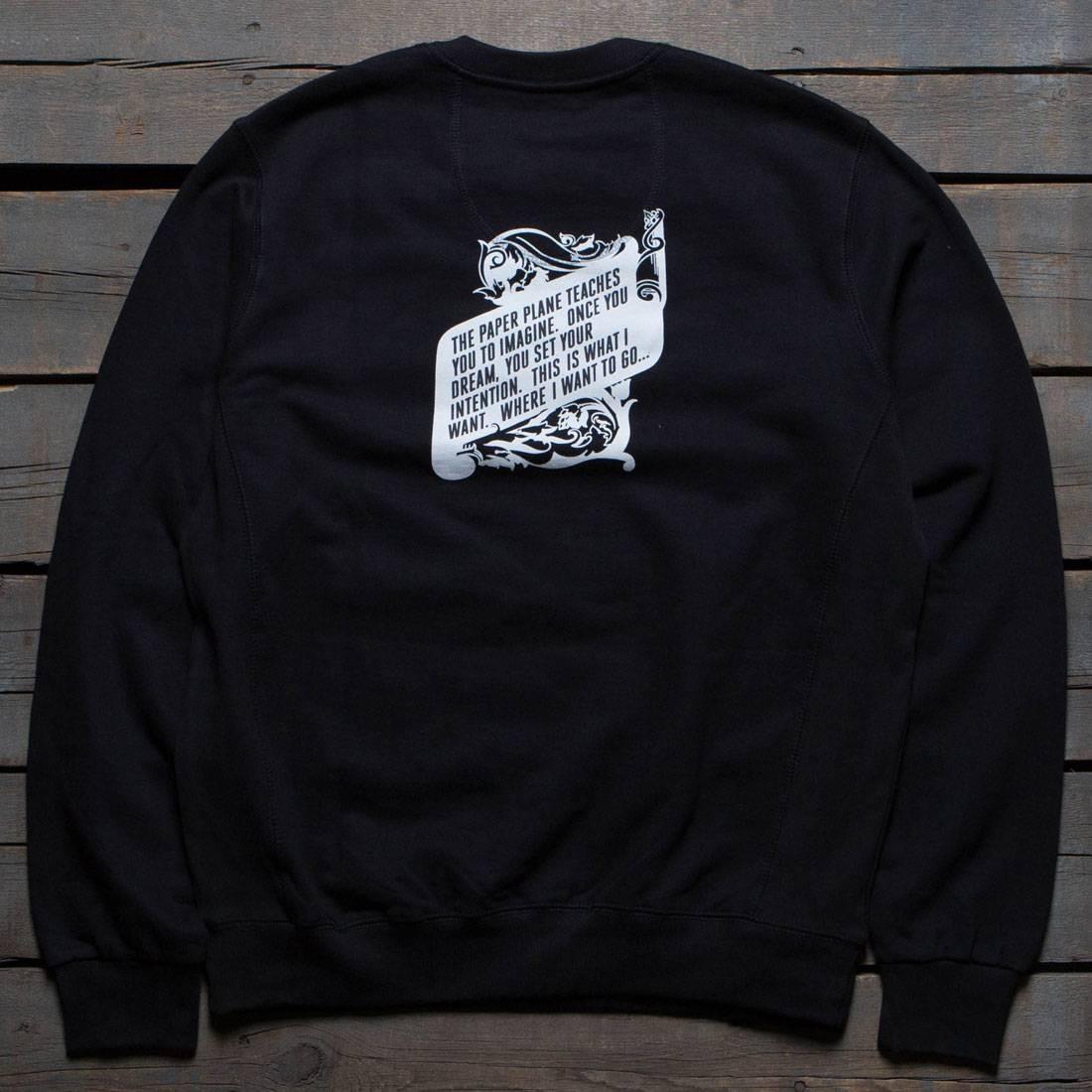 黒 ブラック 【 BLACK PAPER PLANES MEN THE CONSTITUTION CREWNECK SWEATER 】 メンズファッション トップス Tシャツ カットソー