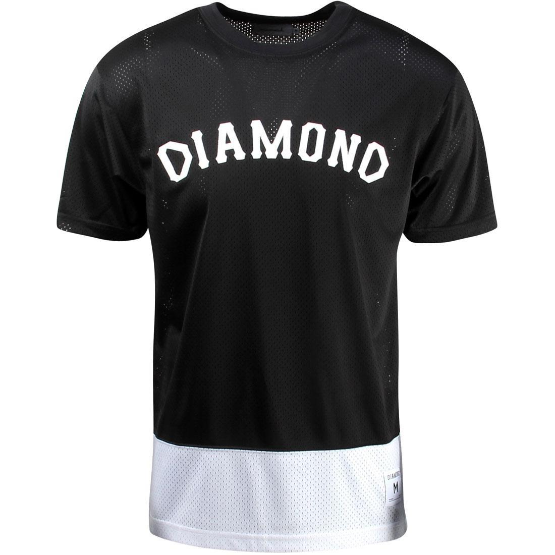 【海外限定】ダイヤモンド サプライ Tシャツ トップス カットソー 【 SUPPLY DIAMOND CO MEN ARCH MESH TEE BLACK 】