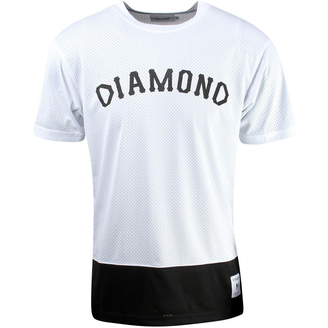 【海外限定】ダイヤモンド サプライ Tシャツ トップス メンズファッション 【 SUPPLY DIAMOND CO MEN ARCH MESH TEE WHITE 】
