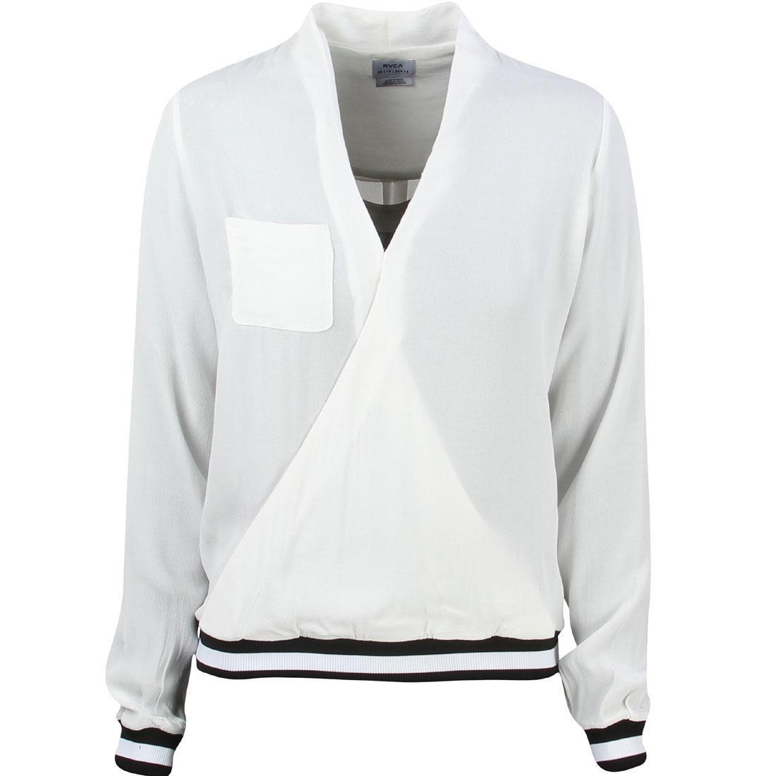 【海外限定】ルーカ スリーブ メンズファッション トップス 【 RVCA SLEEVE WOMEN CENTRA LONG SHIRT WHITE VINTAGE 】