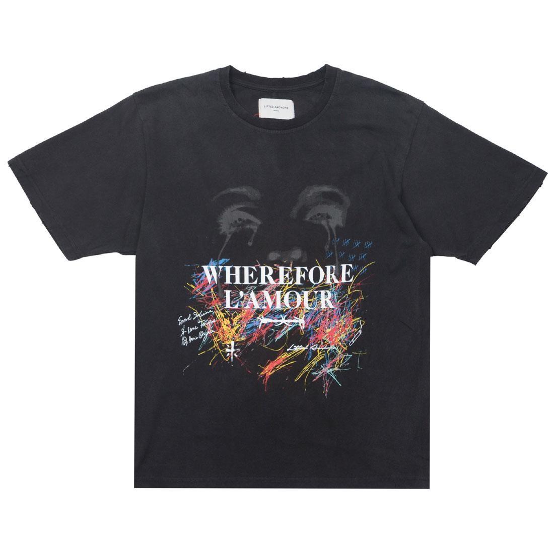 【海外限定】Tシャツ L'AMOUR トップス 【 LIFTED ANCHORS MEN TEE BLACK 】【送料無料】