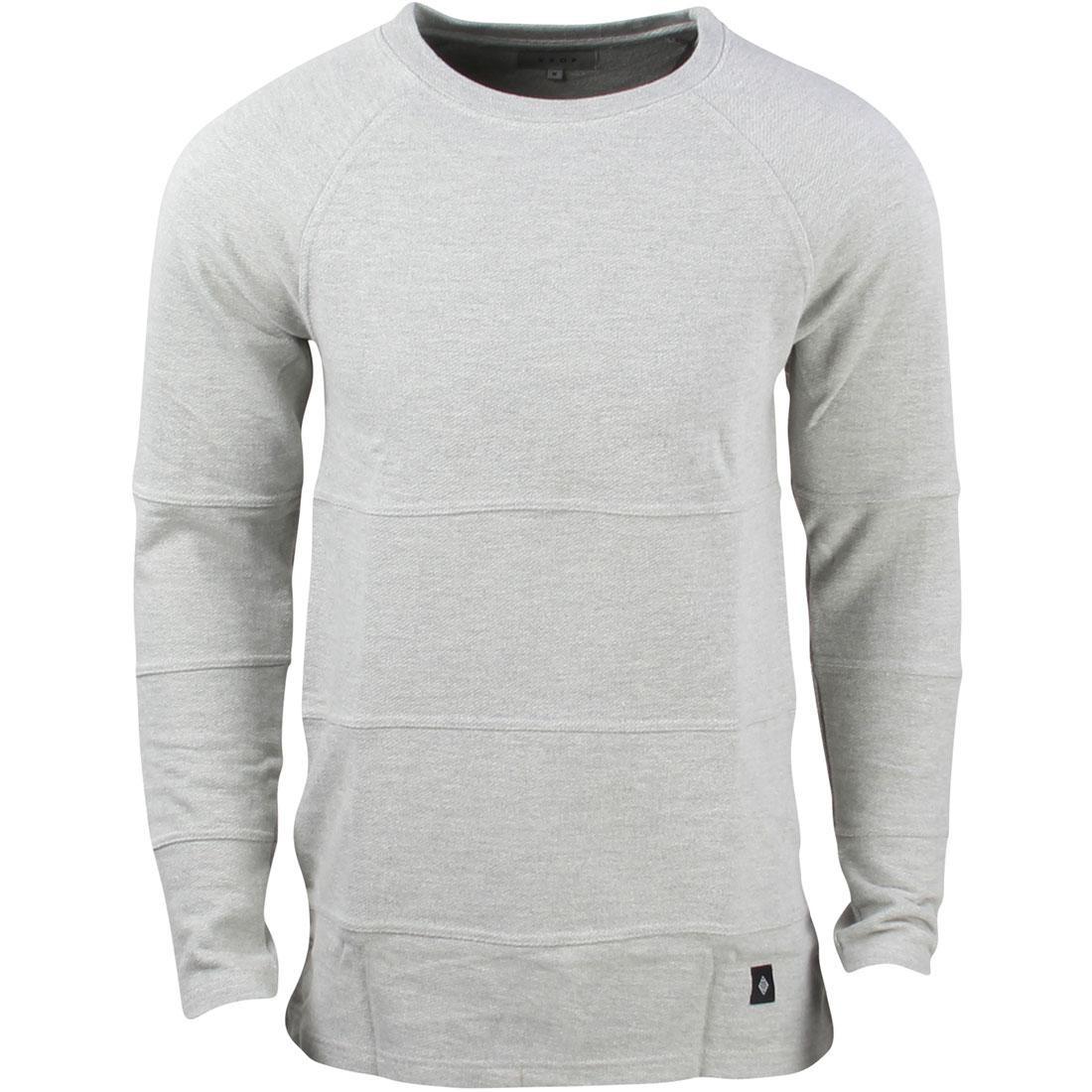 灰色 グレー グレイ 【 GRAY AKOMPLICE MEN CHOP CREW SWEATER 】 メンズファッション トップス Tシャツ カットソー