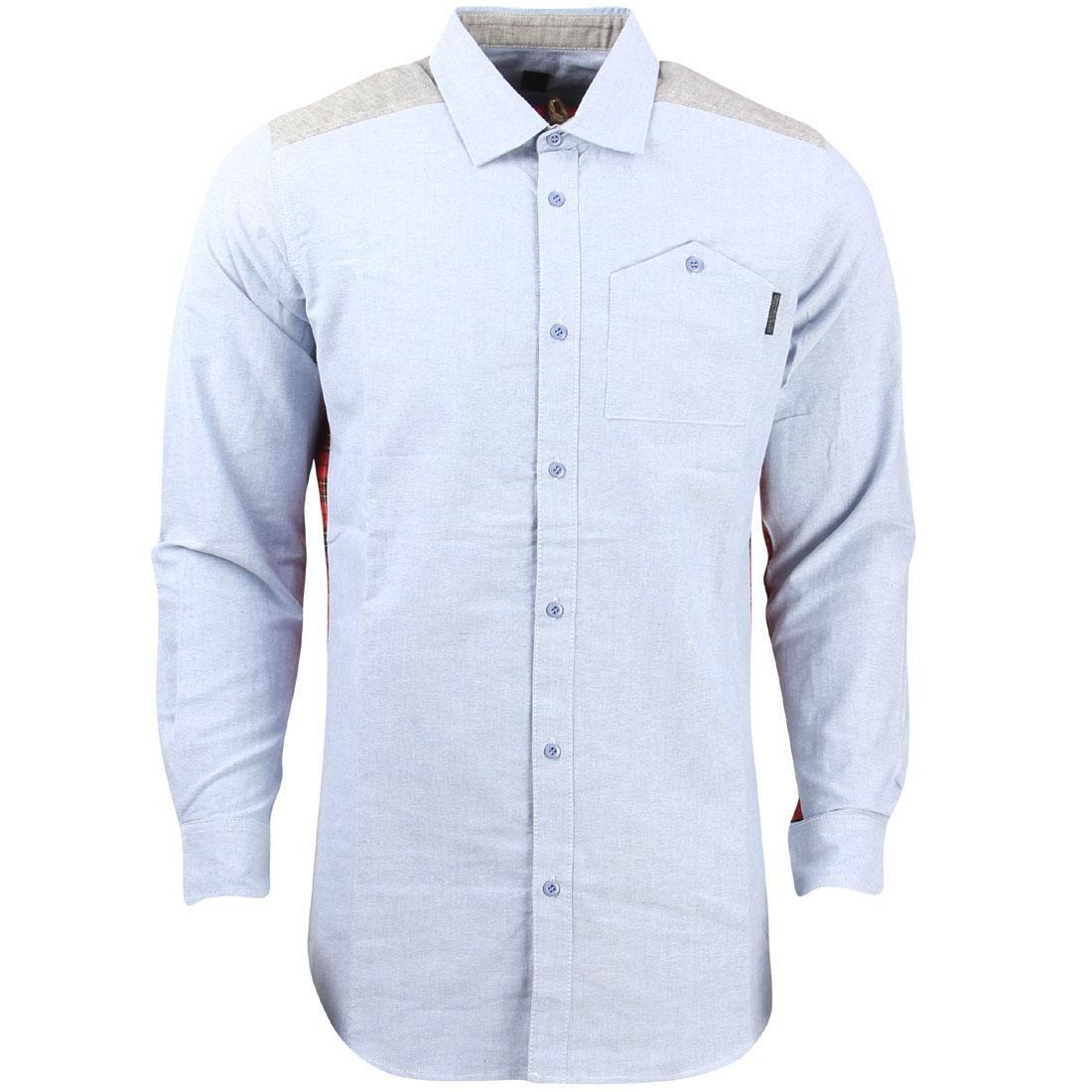 【海外限定】ウーブン トップス カジュアルシャツ 【 WOVEN UNYFORME MEN EDWARD SHIRT BLUE 】