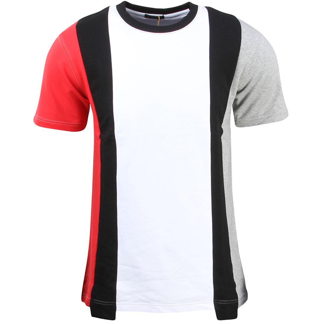ニット Tシャツ 黒 ブラック 赤 レッド メンズファッション トップス カットソー メンズ 【 Unyforme Men Moore Knit Tee (white / Black / Red / Gray) 】 White / Black / Red / Gray