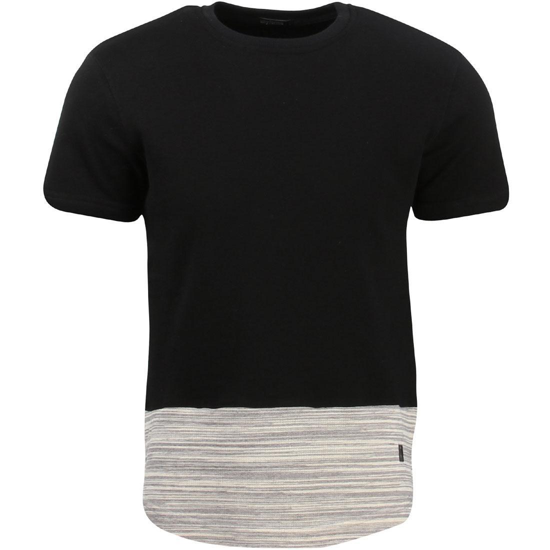 【海外限定 UNYFORME】ニット Tシャツ カットソー【 KNIT UNYFORME MEN PRALL KNIT】 TEE BLACK】, MTK:92dc9f8b --- officewill.xsrv.jp