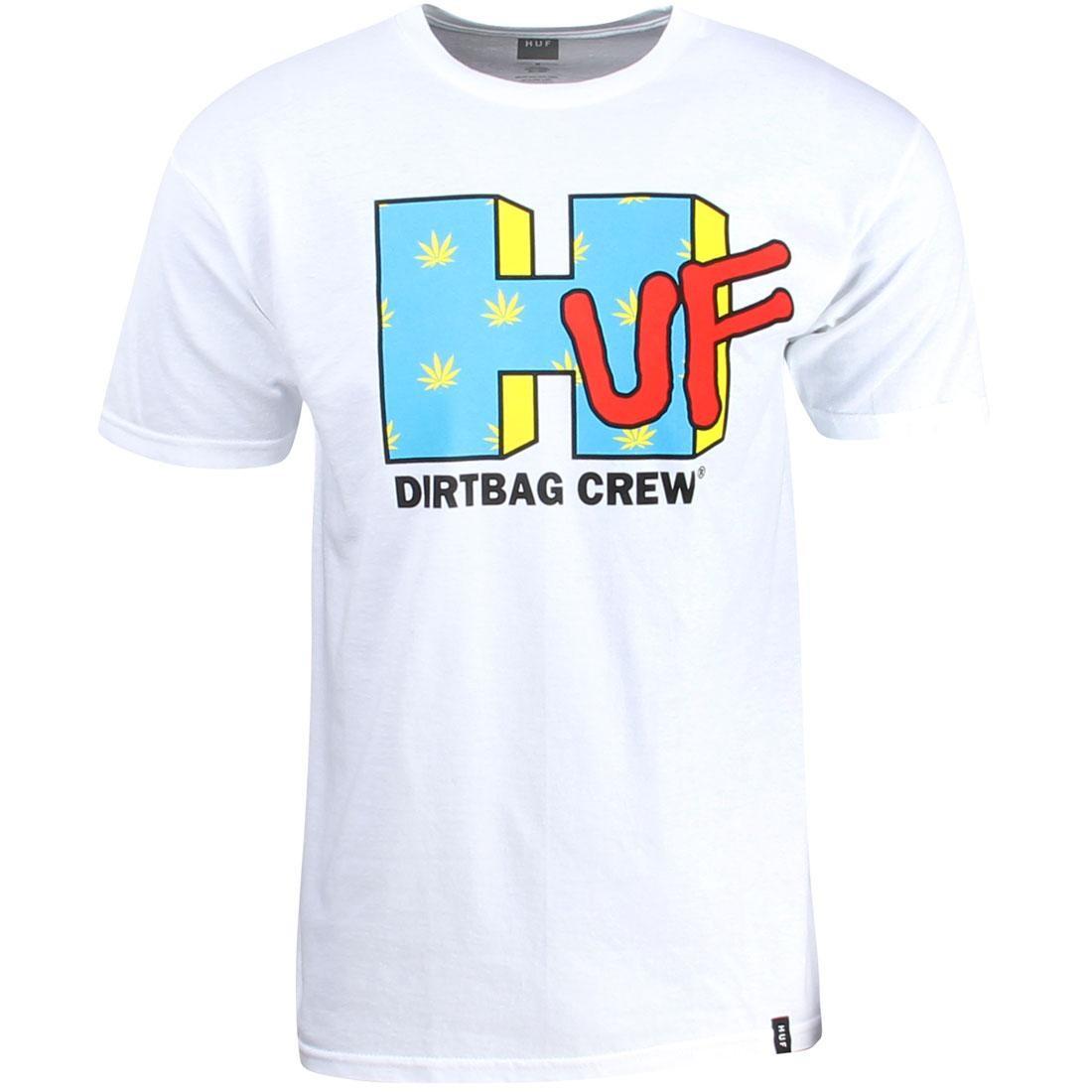 HUF ハフ Tシャツ 白 ホワイト 【 HUF WHITE MEN NETWORK TEE 】 メンズファッション トップス Tシャツ カットソー