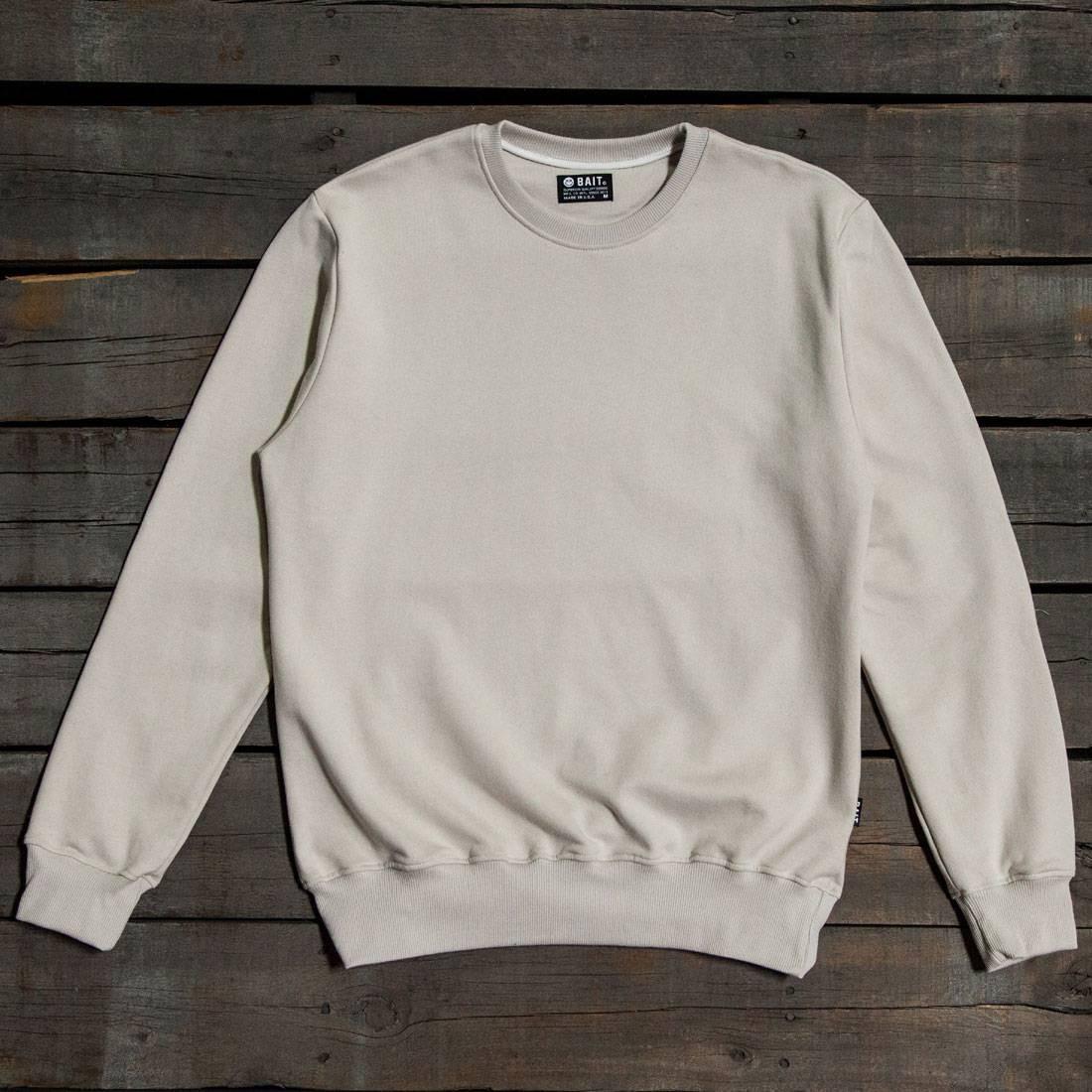ベイト BAIT プレミアム メンズファッション トップス Tシャツ カットソー メンズ 【 Men Premium Crew Neck Sweater - Made In Los Angeles (gray / Turtledove) 】 Gray / Turtledove