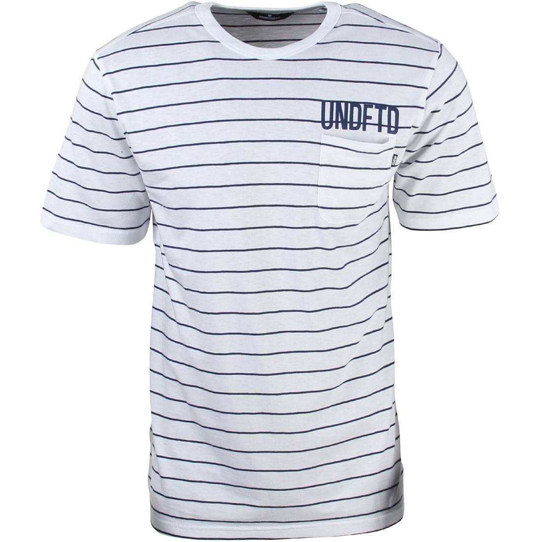 【海外限定】ストライプ Tシャツ メンズファッション トップス 【 STRIPE UNDEFEATED MEN POCKET TEE WHITE 】
