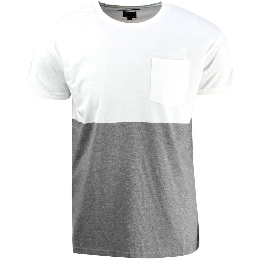 【海外限定】ルーカ Tシャツ メンズファッション 【 RVCA HALFWAY CREW TEE GRAY NOISE 】