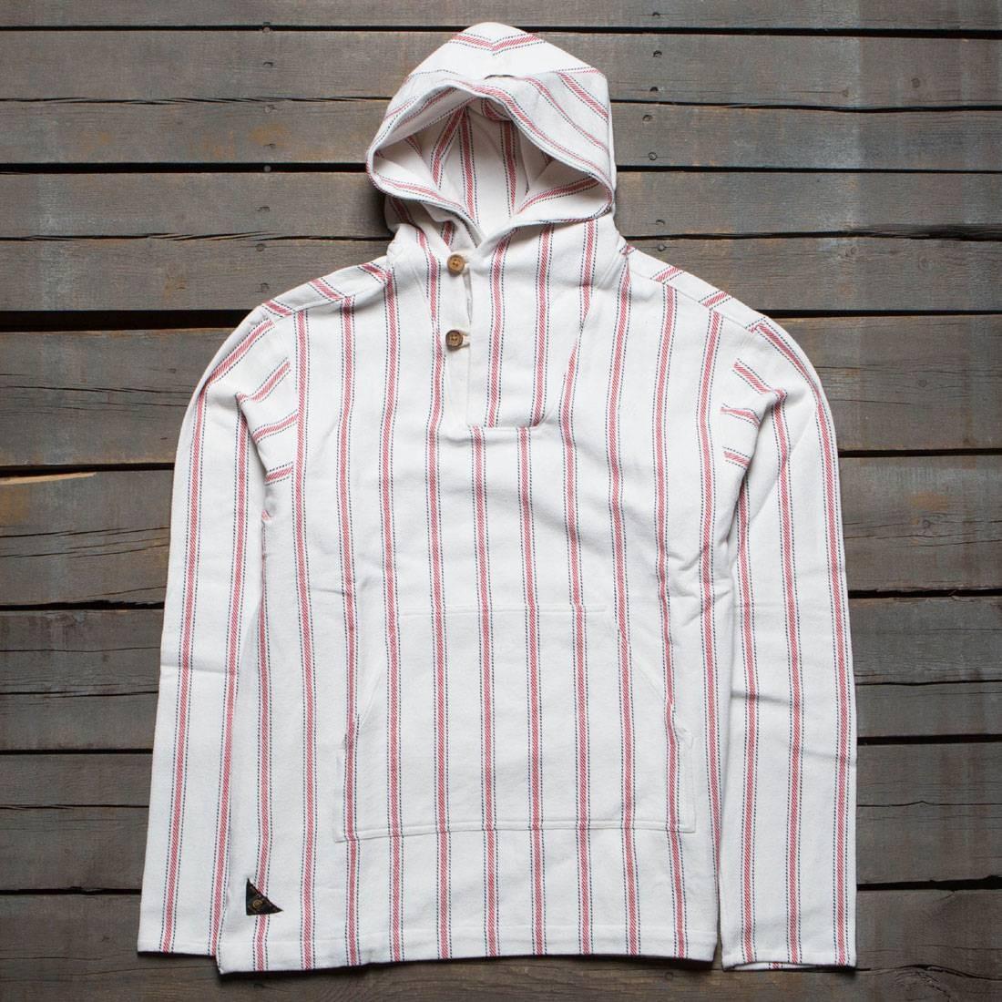 【海外限定】ディープ ポンチョ フーディー パーカー メンズファッション トップス 【 10 DEEP MEN SANDSTONE PONCHO HOODY WHITE RED 】