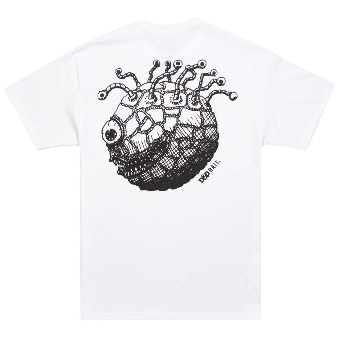 ベイト BAIT Tシャツ 白 ホワイト 【 WHITE BAIT X DUNGEONS AND DRAGONS MEN BEHOLDER TEE 】 メンズファッション トップス Tシャツ カットソー
