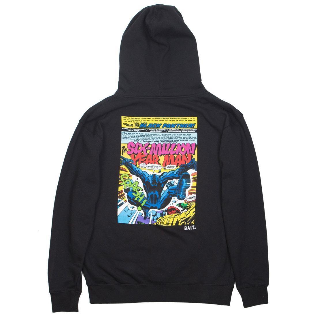 【海外限定】コミックス 黒 ブラック キック フーディー パーカー トップス 【 BLACK BAIT X MARVEL COMICS MEN PANTHER KICK HOODY 】