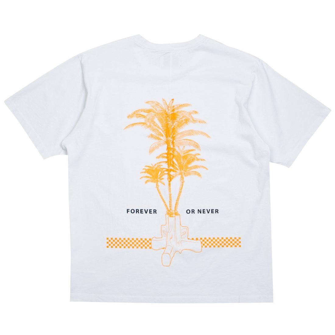 Tシャツ 白 ホワイト 【 WHITE LIFTED ANCHORS MEN FOREVER TEE 】 メンズファッション トップス Tシャツ カットソー