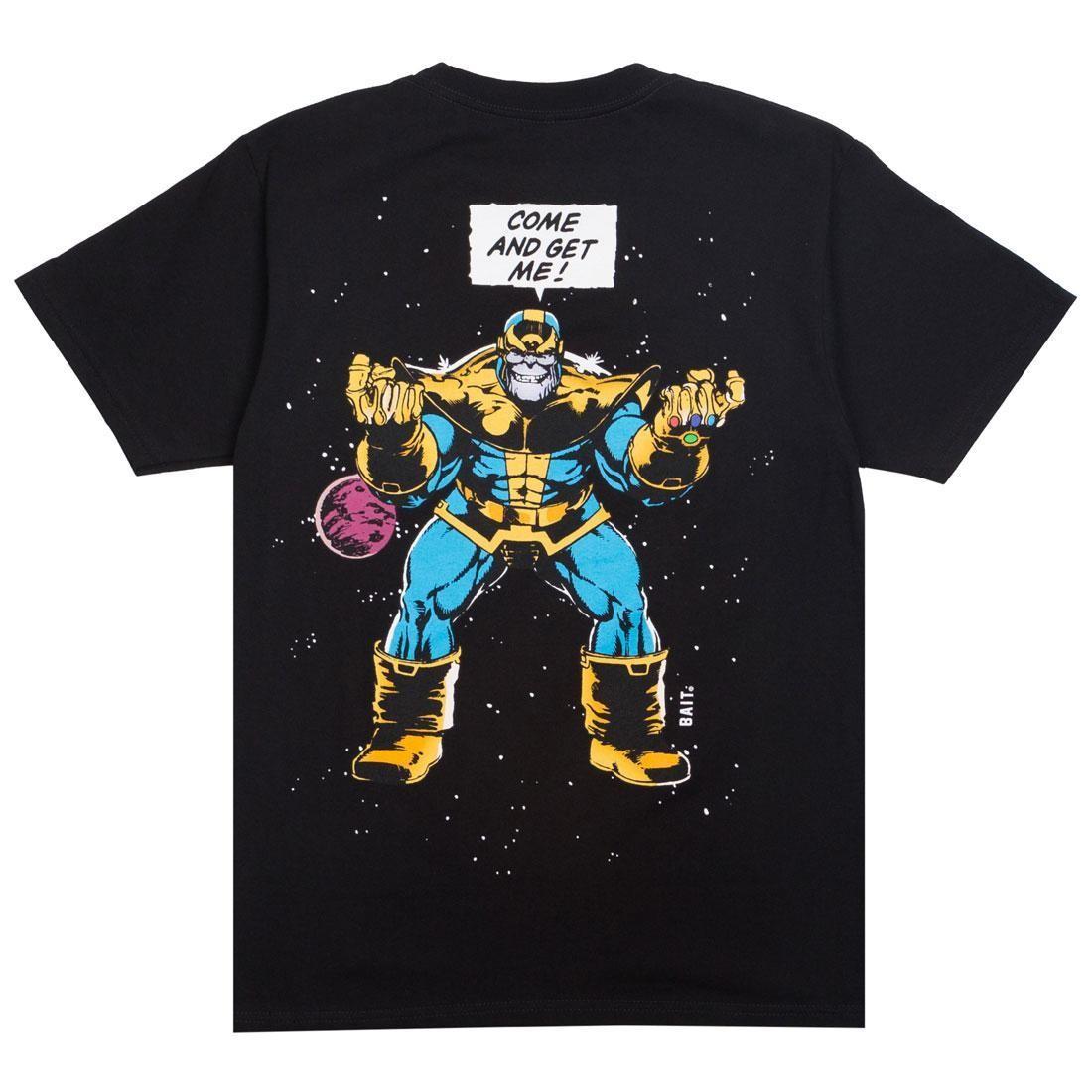 【海外限定】コミックス Tシャツ カットソー 【 BAIT X MARVEL COMICS MEN INFINITY GAUNTLET THANOS TEE BLACK 】