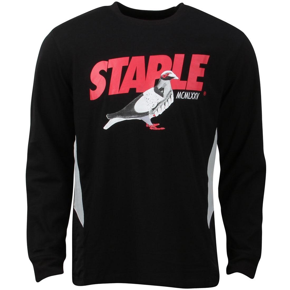 Tシャツ 黒 ブラック 【 BLACK STAPLE MEN RUNNERS TEE 】 メンズファッション トップス Tシャツ カットソー