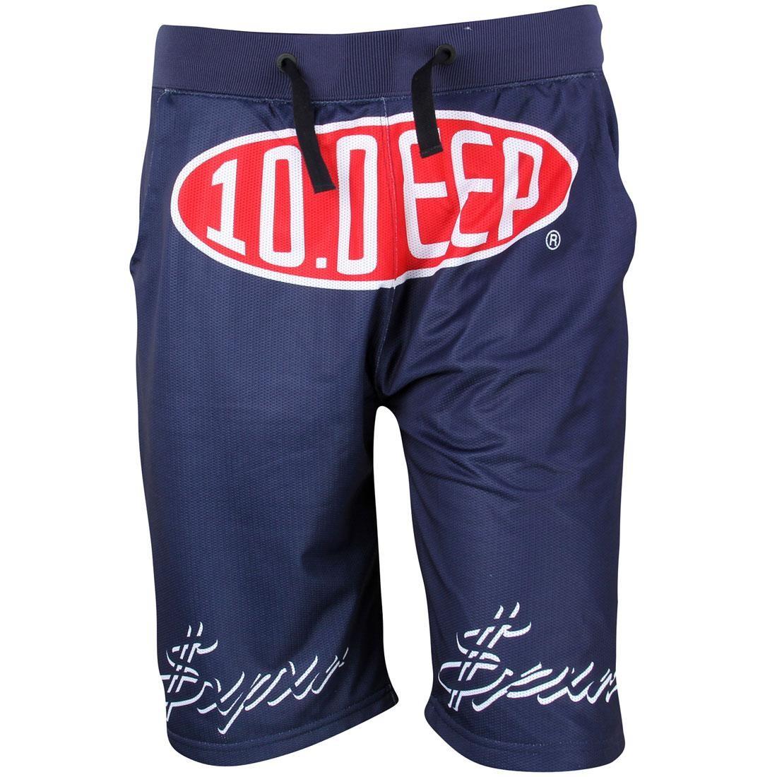 テンディープ 10 DEEP ディープ ショーツ ハーフパンツ 紺 ネイビー 【 NAVY 10 DEEP MEN SPEEDWAY MESH SHORTS 】 メンズファッション ズボン パンツ