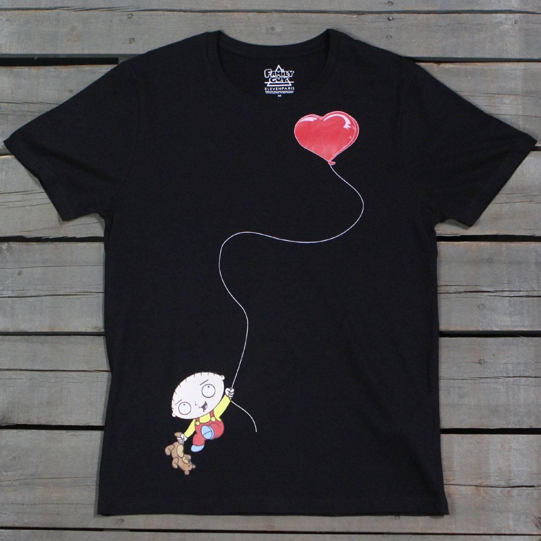 Tシャツ 黒 ブラック 【 BLACK ELEVEN PARIS X FAMILY GUY MEN STEWIE LOVE BALLOON TEE 】 メンズファッション トップス Tシャツ カットソー