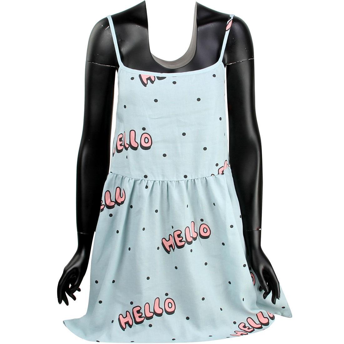 ドレス 【 LAZY OAF WOMEN HELLO DRESS BLUE 】 レディースファッション ワンピース