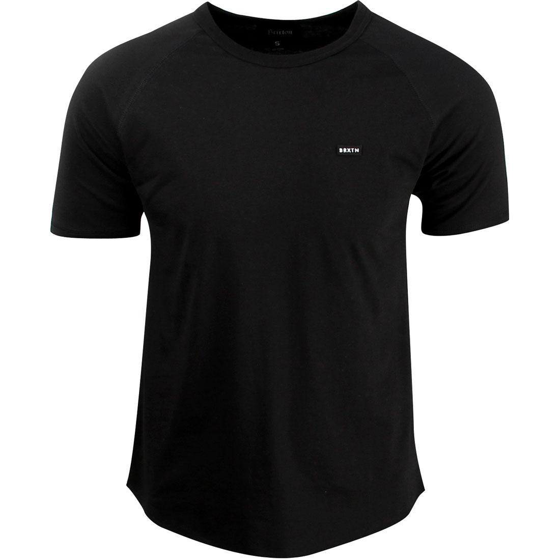 ブリクストン BRIXTON リッチモンド スリーブ ニット Tシャツ 黒 ブラック 【 SLEEVE BLACK BRIXTON RICHMOND II SHORT KNIT TEE 】 メンズファッション トップス Tシャツ カットソー