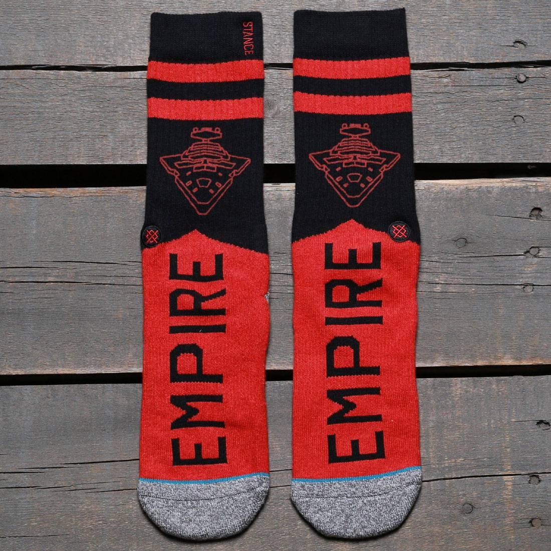 スタンス STANCE ソックス 靴下 インナー 下着 ナイトウエア メンズ 下 レッグ 【 X Star Wars Varsity Empire Socks (red) 】 Red