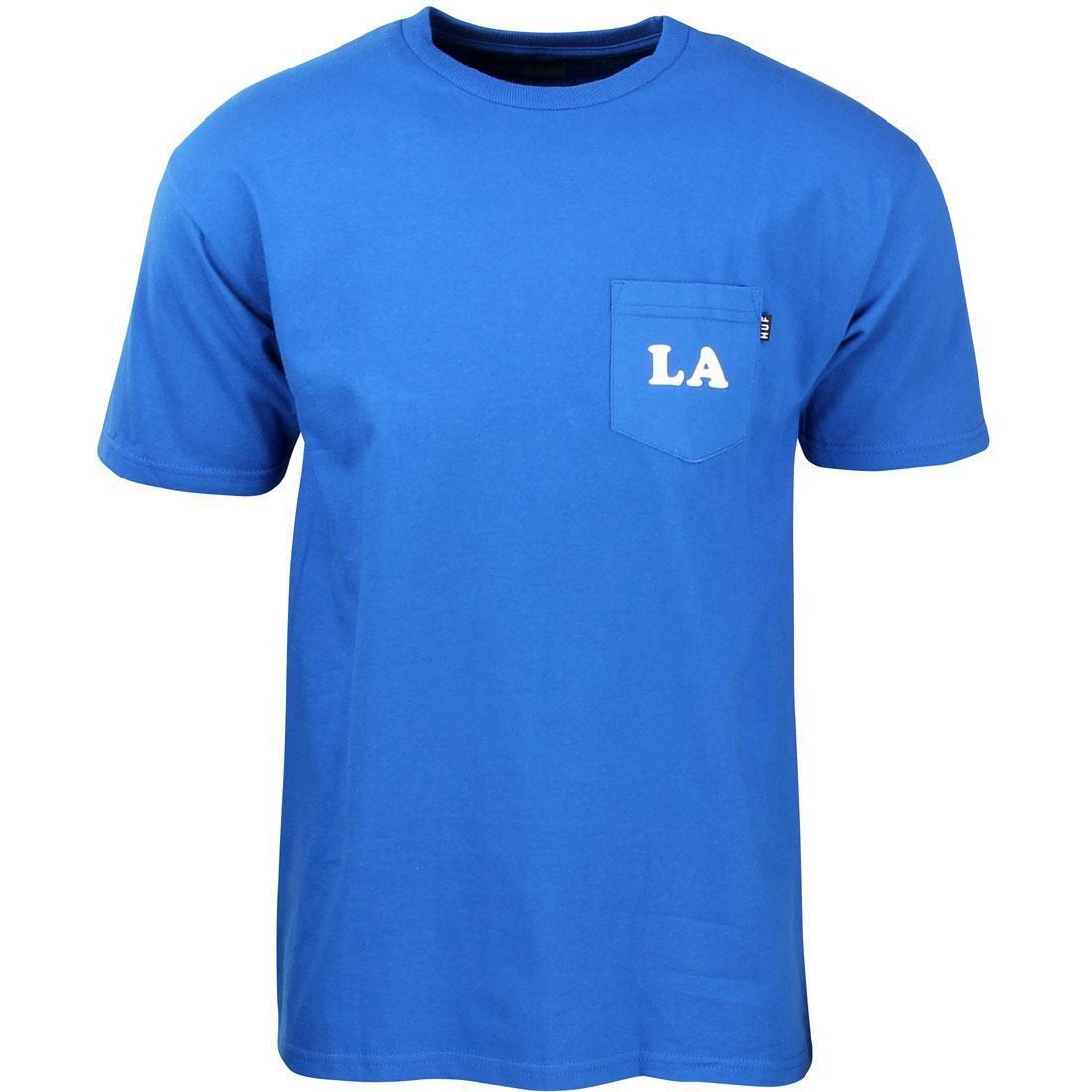 HUF ハフ Tシャツ 青 ブルー 【 HUF BLUE MEN CITIES POCKET TEE ROYAL 】 メンズファッション トップス Tシャツ カットソー